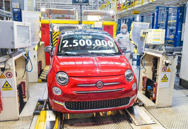 2,5 millions de Fiat 500 produites en Pologne