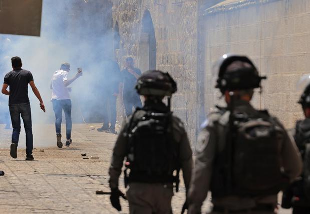 Nouvelle journée de violences à Jérusalem-Est: les dégâts des balles en caoutchouc et des grenades assourdissantes