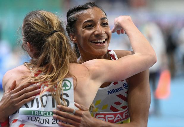 Vijf Belgische medailles op EK indoor: 'Ver boven verwachtingen'