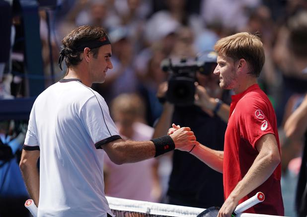 Goffin laminé par Federer