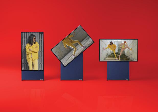 Samsungs kantelende tv komt naar België