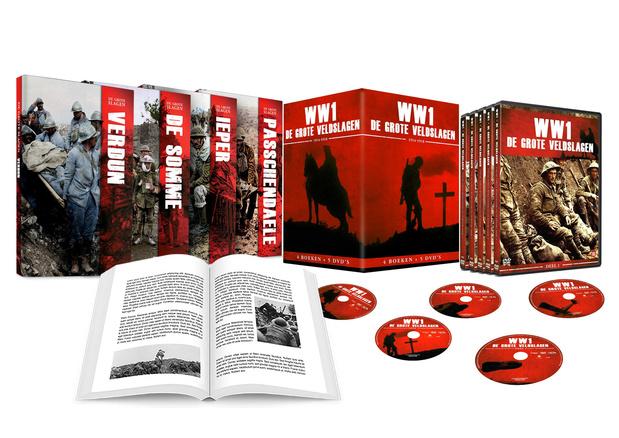 Exclusieve box met 4 boeken en 5 dvd's over de Eerste Wereldoorlog