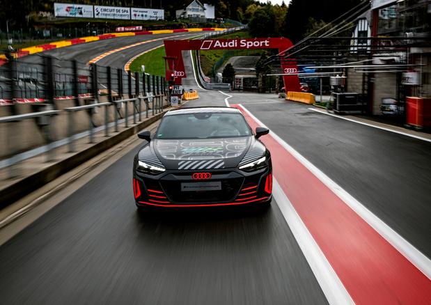 L'Audi e-tron GT en démonstration à Spa