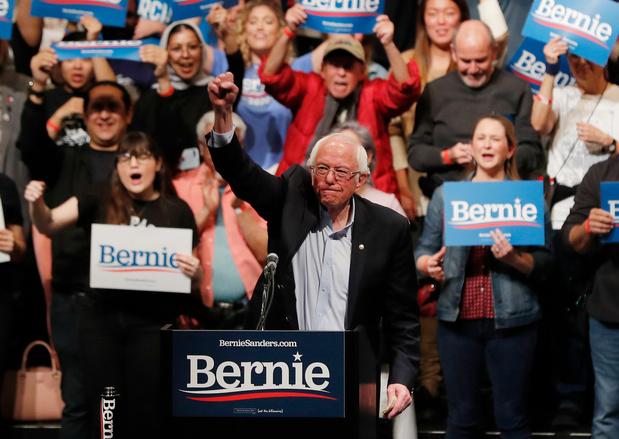 Bernie Sanders wint voorverkiezing Nevada met ruime voorsprong op concurrenten
