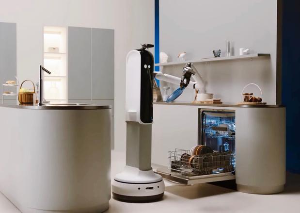 Robotbutler van Samsung vult en ledigt zelfs de vaatwasser