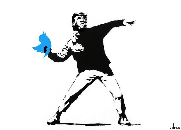 Eerste rechtszaak tegen socialemediadecreet Trump