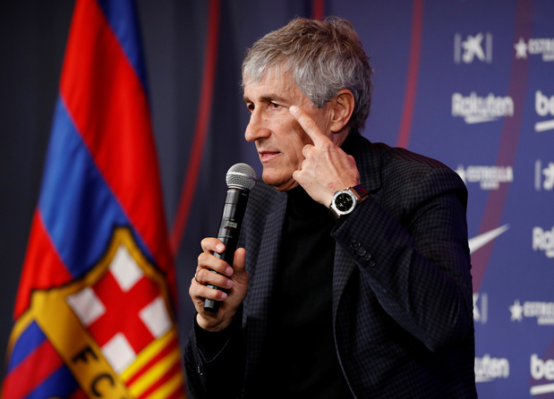 """Les premiers mots de """"Quique"""" Setién à la tête du Barça"""