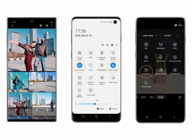 Samsung maakt Galaxy S20-snufjes ook beschikbaar op de S10 en Note10
