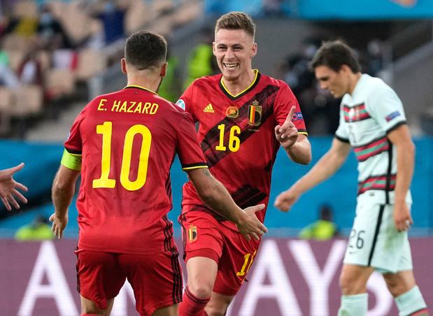 Rode Duivels knokken zich voorbij Portugal na schicht van Thorgan Hazard: 1-0