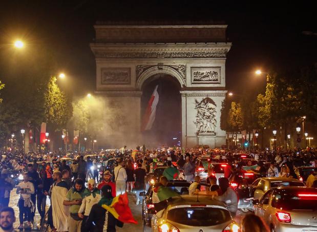 Incidents après la victoire de l'Algérie: 282 interpellations en France