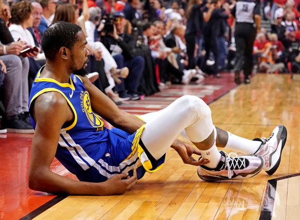 Kevin Durant komt dit seizoen niet meer in actie