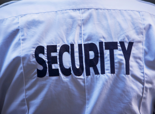 Action des syndicats de gardiennage: Grève devant l'OTAN