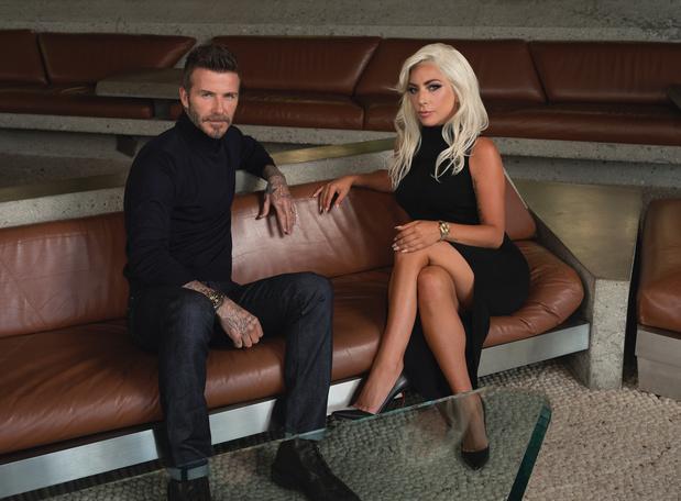 Lady Gaga et David Beckham se rencontrent à l'heure suisse