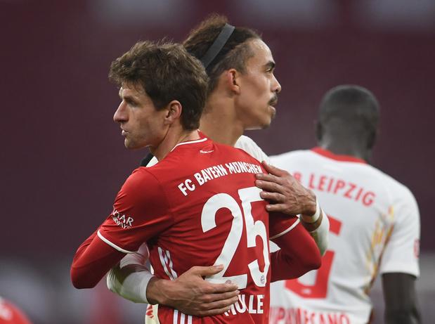 Bousculé par Leipzig, le Bayern contraint au nul