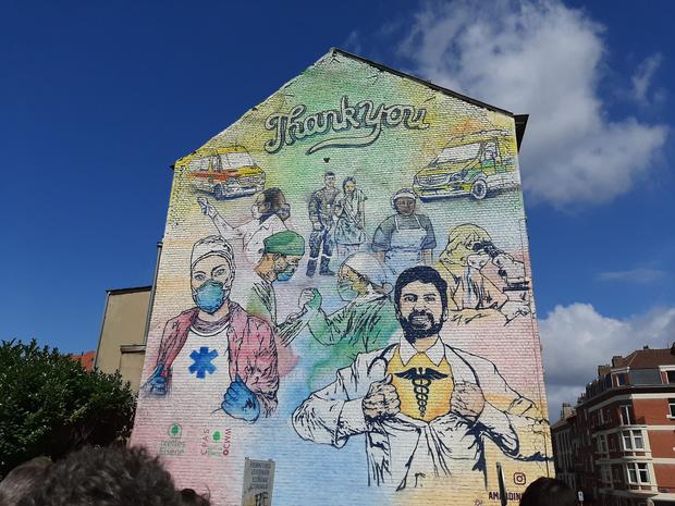 Du Street art pour remercier les soignants à Ixelles