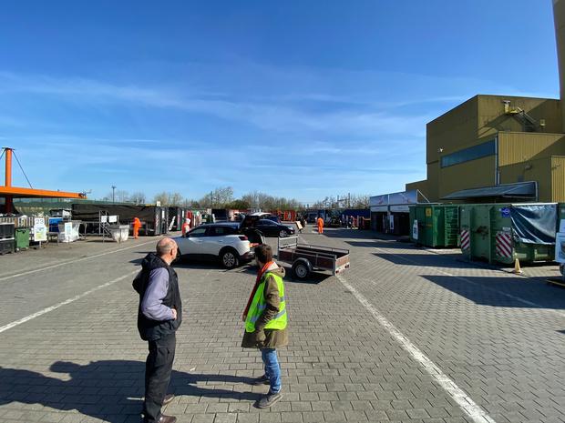 Containerparken in Oostende verhogen hun capaciteit van maximum aantal toegelaten wagens