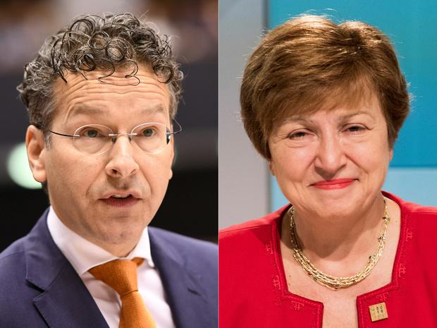 Bulgaarse Kristalina Georgiewa voorgedragen als IMF-directeur, Dijsselbloem trekt zich terug