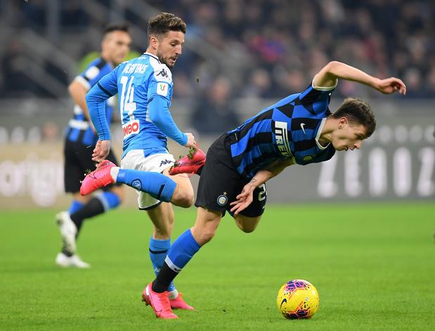 Le Naples de Mertens bat l'Inter de Lukaku et prend une option sur la finale de la Coupe