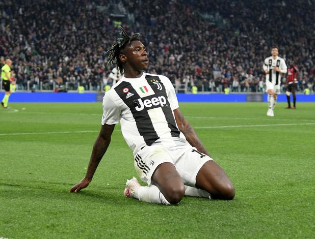 Moise Kean de la Juventus à Everton