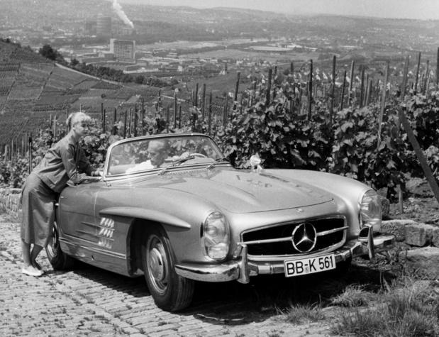 Mercedes SL, l'exposition qui retrace 70 ans de sport en grande classe