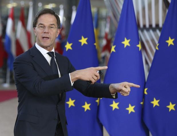 """Il est """"plus facile de trouver un gouvernement belge qu'un budget européen"""" selon Rutte"""