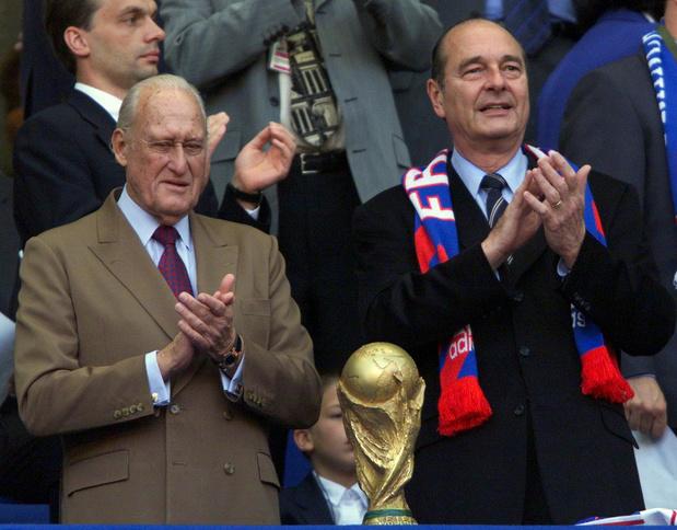 Jacques Chirac à la Coupe du Monde 98: un moment devenu culte