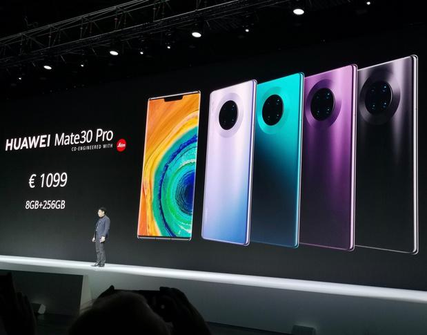 Huawei Mate 30 Pro komt deze maand naar België, zonder Google-diensten