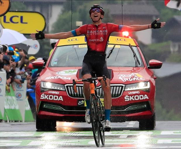 Tour de France: la 8e étape pour Dylan Teuns et le maillot jaune va à Tadej Pogacar