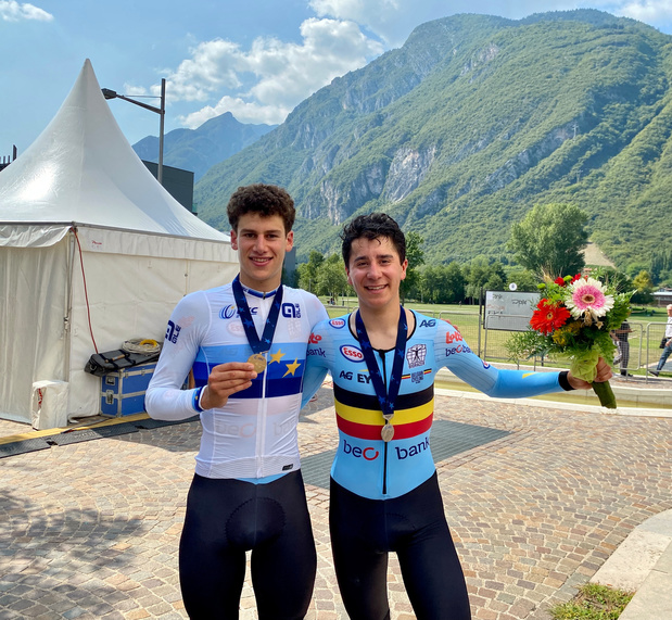 Doublé belge aux championnats d'Europe juniors du contre-la-montre