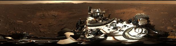 NASA deelt panoramisch beeld van Mars