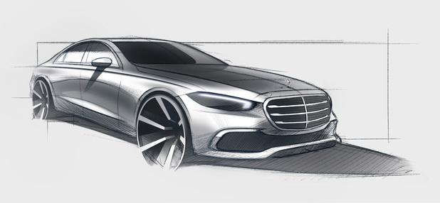 Mercedes toont eerste schets S-Klasse