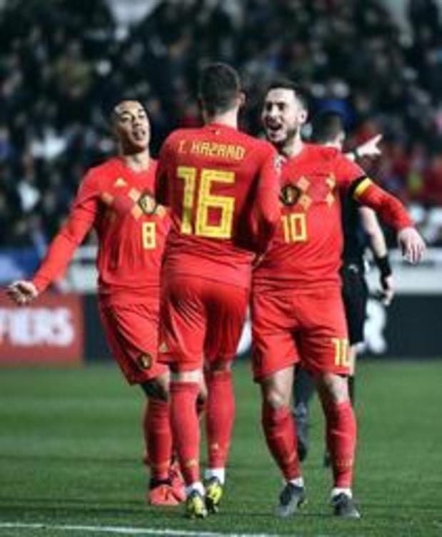 Rode Duivels - Eden Hazard ontvangt cap voor honderdste interland