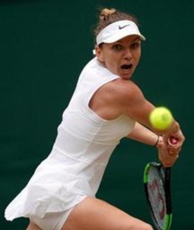 Simona Halep is eerste finaliste op Wimbledon