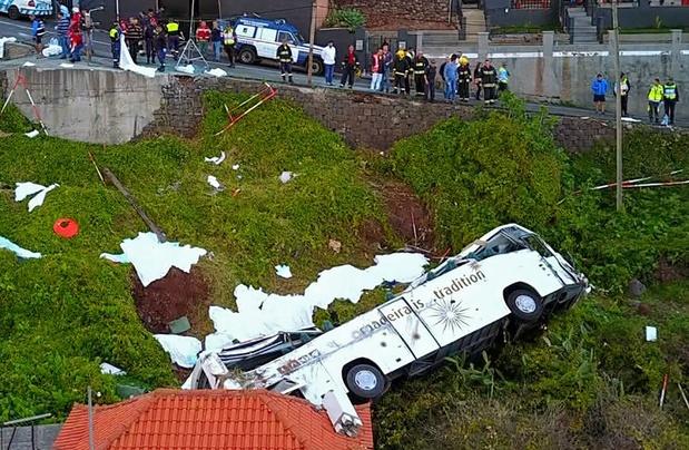 29 doden bij busongeval op Madeira, alle slachtoffers zijn Duits