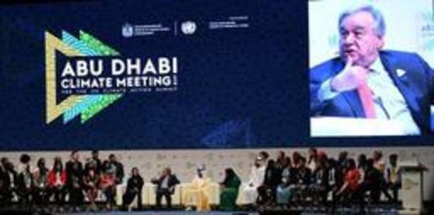 """Hoofd van VN roept tot dringende actie op om """"klimaatramp"""" te vermijden"""