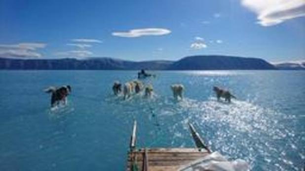 Recordhoeveelheid ijs gesmolten op Groenland: 11 miljard ton op 1 dag