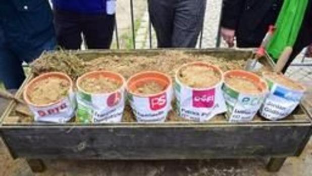 Des patates plantées devant le Parlement wallon pour dénoncer la politique agricole