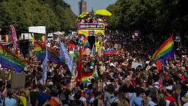 Pride in Berlijn trekt bijna 1 miljoen mensen