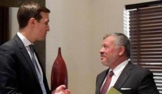Kushner s'est entretenu avec le roi de Jordanie du plan de paix au Proche-Orient
