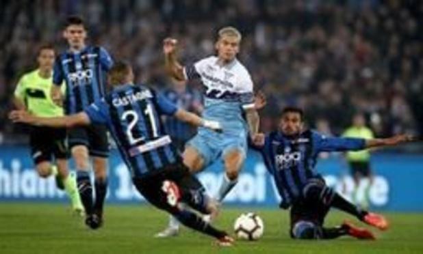 Les Belges à l'étranger - L'Atalanta et Castagne battus en finale de la Coupe d'Italie par la Lazio