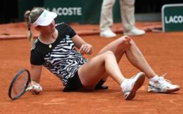 Geen halve finales voor Elise Mertens