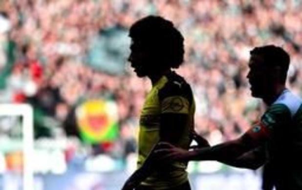 Les Belges à l'étranger - Le Borussia Dortmund de Witsel perd 2 points à Brême et dit pratiquement adieu au titre