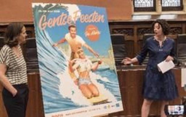 Une affiche vintage pour promouvoir les 176e Fêtes de Gand
