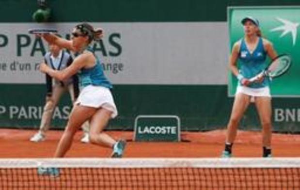 Roland Garros - Kirsten Flipkens stoot door in dubbelspel naar kwartfinales