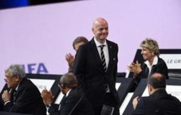 Gianni Infantino réélu pour un deuxième mandat, jusqu'en 2023, comme président de la FIFA