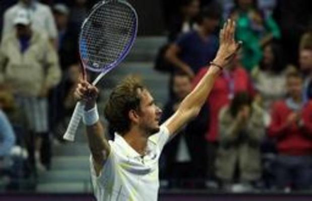 """US Open - Medvedev is heel verrast na bereiken eerste grandslamfinale: """"Heb ik niet slecht gedaan"""""""