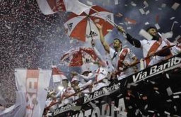 River Plate et Matias Suarez qui a marqué remportent la Supercoupe d'Amérique du sud