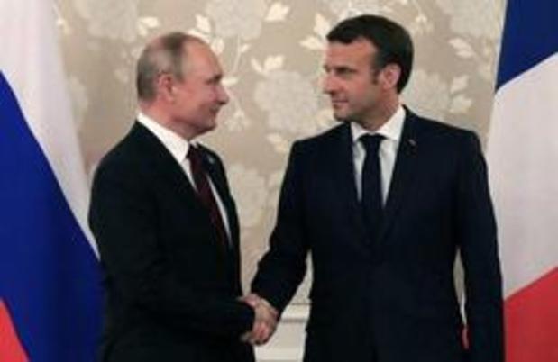 """Poutine et Macron veulent """"consolider les efforts"""" pour sauver l'accord nucléaire iranien"""