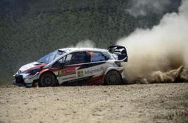 Thierry Neuville derrière les trois Toyota au Portugal