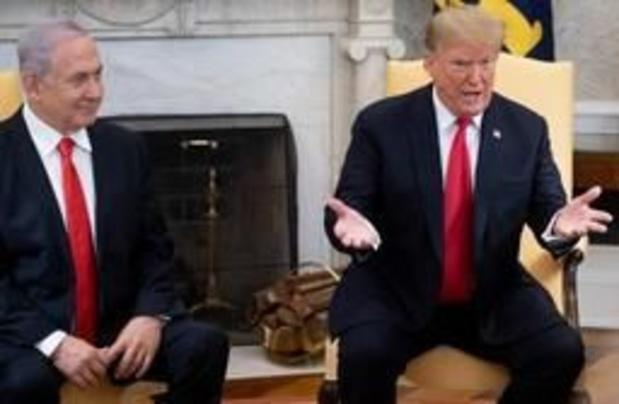 Trump: overwinning van Netanyahu vergroot kans op vrede